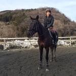 [越生の乗馬クラブ]駈歩でツーポイント維持!!(埼玉県比企郡/I様)