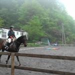 [越生の乗馬クラブ]経路走行会にて3級ライセンス経路を行いました。