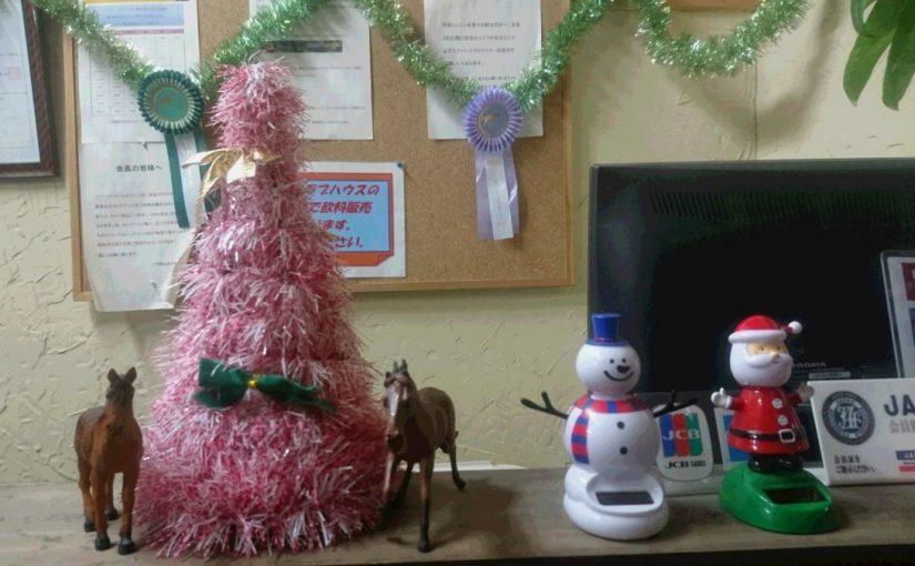 [越生の乗馬クラブ]クリスマスに向けての飾り付けです。[東京都世田谷区/S様]