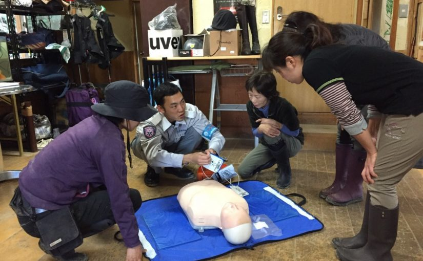 [越生の乗馬クラブ]救命講習を行いました。[東京都北区/K様]