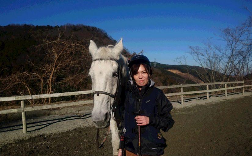 [越生の乗馬クラブ]初めて駈歩やりました!![埼玉県浦和区/A様]