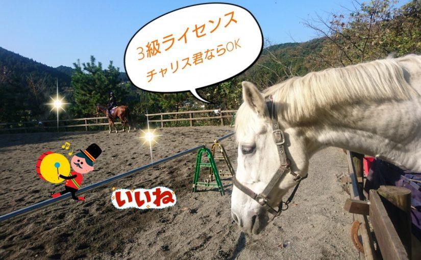 [越生の乗馬クラブ]3級ライセンスはチャリス君にお任せあれ~