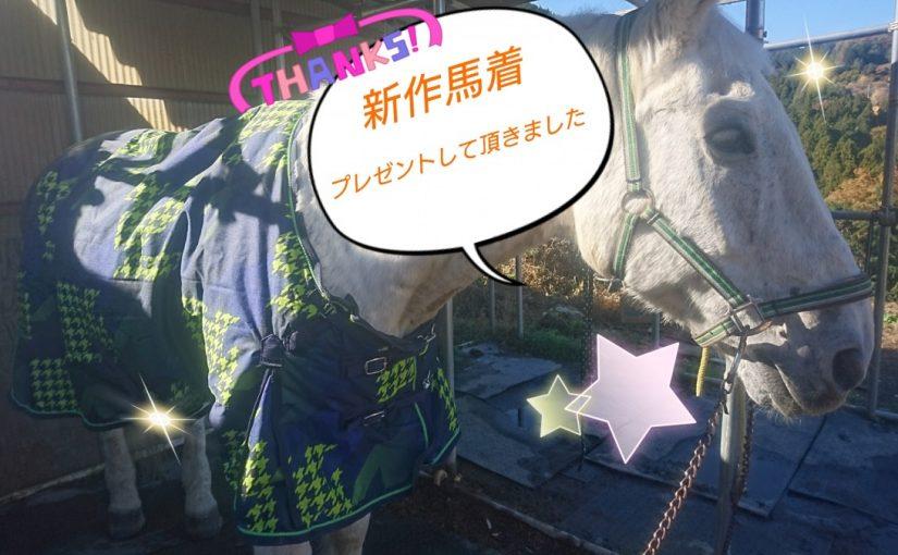 [越生の乗馬クラブ]新しい馬着をプレゼントして頂きました~!!