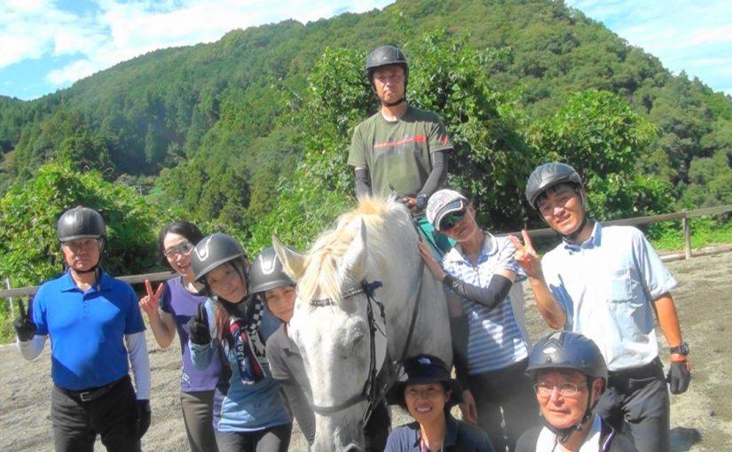 [越生の乗馬クラブ] 裸馬に乗りました!!